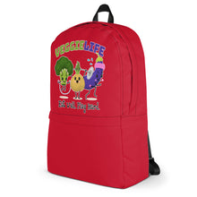 Load image into Gallery viewer, Veggie Life Red Backpack