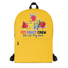 Load image into Gallery viewer, Fit Fruit Crew Yellow Backpack