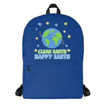 Load image into Gallery viewer, Clean Earth Blue Backpack