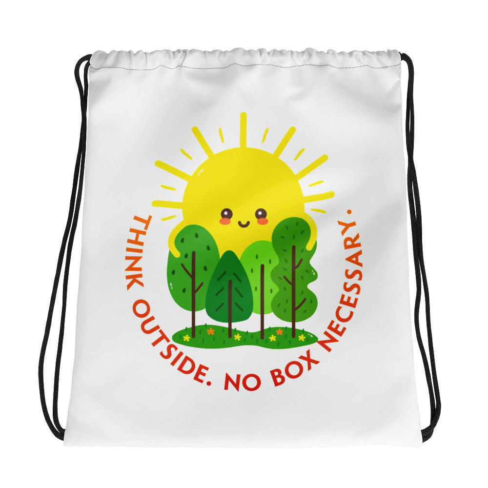 Think Outside Drawstring Bag