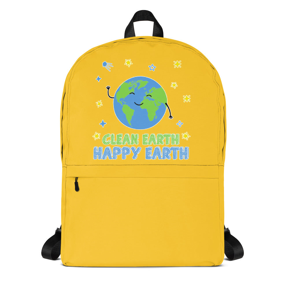Clean Earth Yellow Backpack