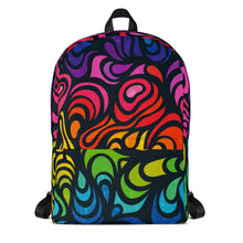 Load image into Gallery viewer, Psychedelic Rainbow Backpack