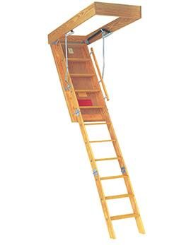 "Model 655D - 350 lb. Rated-Attic Ladder-American Stairways-22.5"" x 54"" R.O.; 8'9"" Ceiling-AnyLadder"
