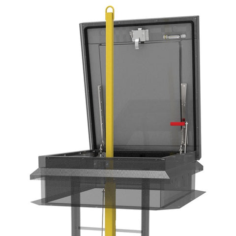 Babcock Davis Ladder Safety Post-Fixed Ladder-Babcock Davis-Steel Powder Coat Yellow-AnyLadder