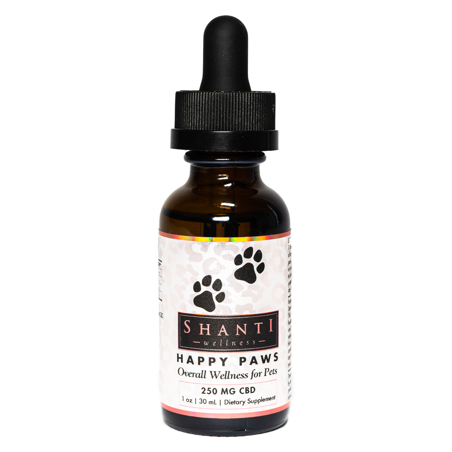 Happy Paws -250 mg CBD Oil for Pets- Unflavored - Shanti Wellness