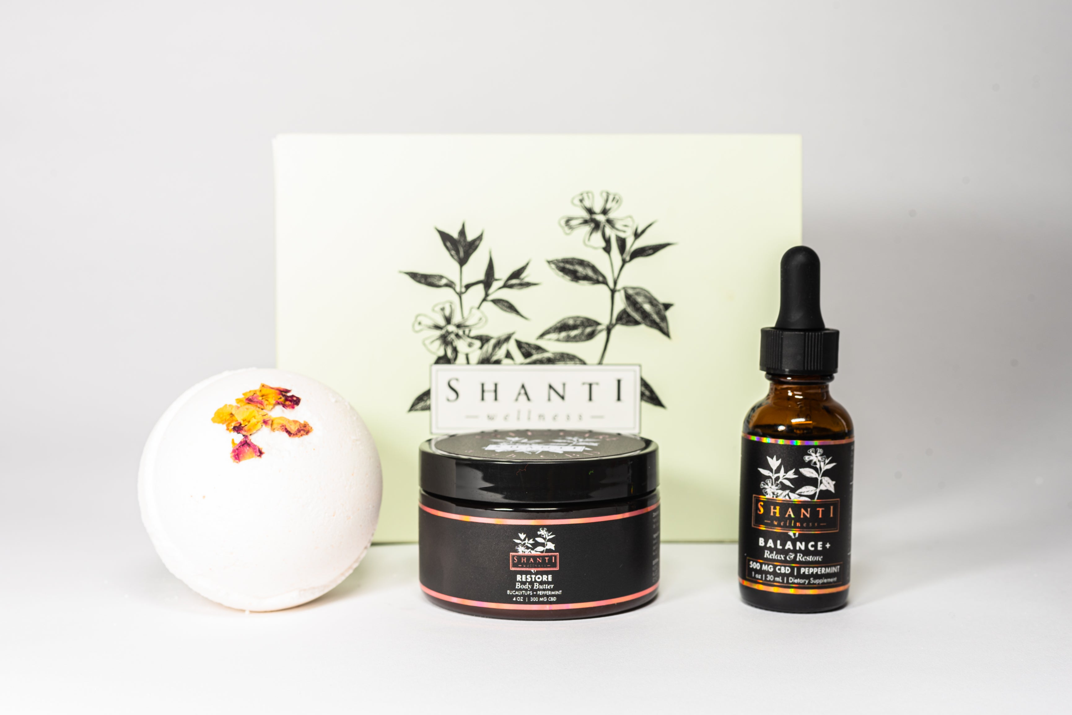 CBD Self Care Kit 600mg Limited Edition - Shanti Wellness