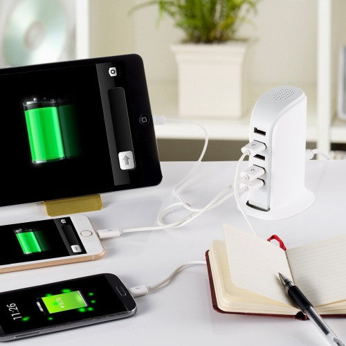 Polaroid 5 port Universal USB charger - White