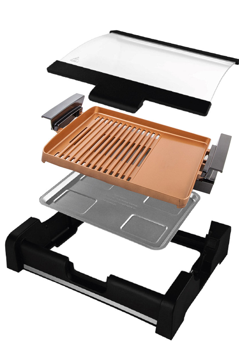 Milex CopperFusion Glass Lid Grill