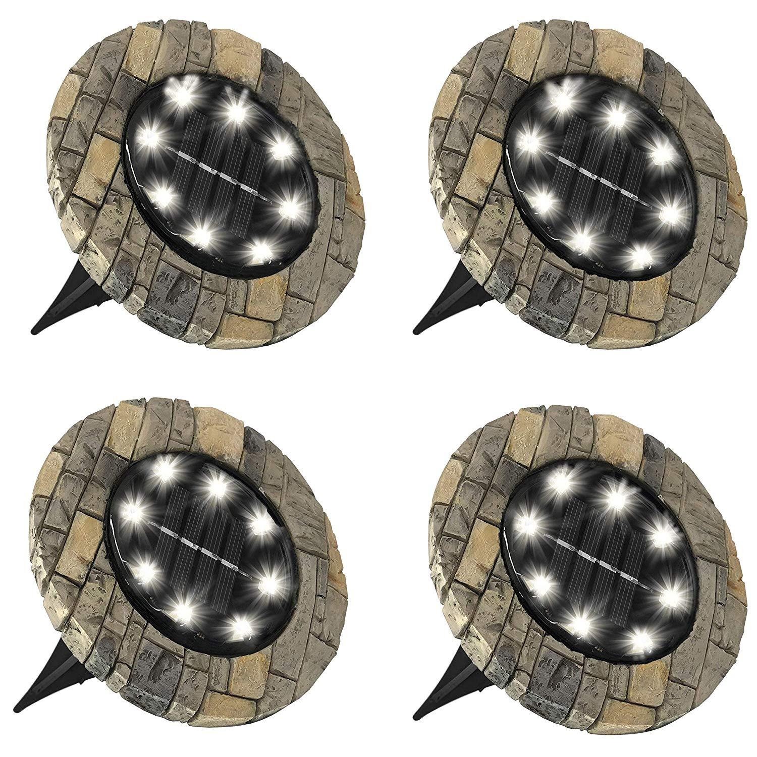 Homemax Solar Disk Lights - Set of 4