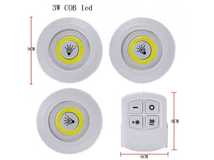 COB Remote Controlled LED Puck Lights