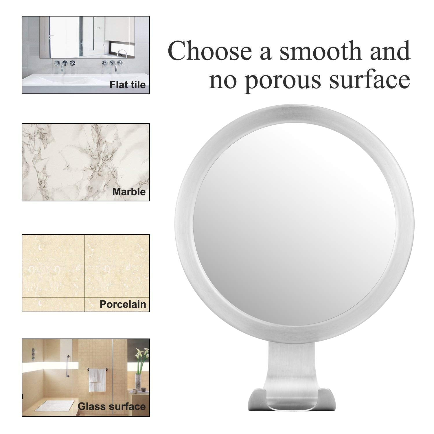 Homemax Fogless LED Shower Mirror