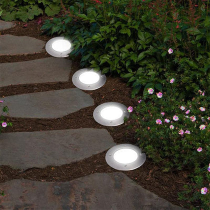 Homemax EcoBright 8 LED Solar Disc Light (4 Pack)