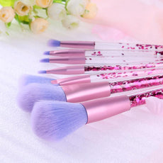 7 Piece Liquid Confetti Makeup Brushes
