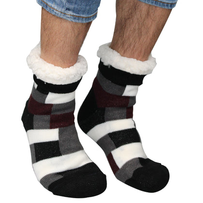Comfort Pedic Comfy Mens Geometric Socks