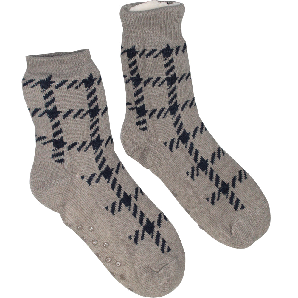 Comfort Pedic Comfy Mens Plaid Socks