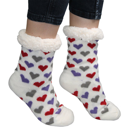 Comfort Pedic Comfy Ladies Heart Socks