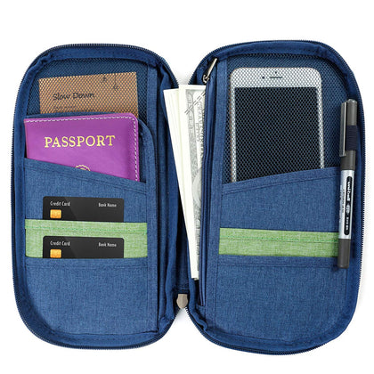 Passport Pouch Travel Document Organizer