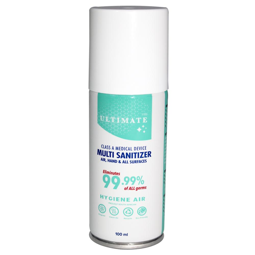 Remedy Health Eco Friendly Class A Medical Device Multi Sanitizer - 100ml Aerosol