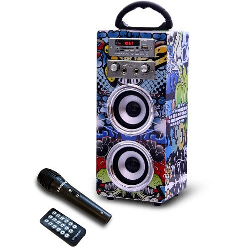 Polaroid Bluetooth Karaoke Beat Box - Graffiti
