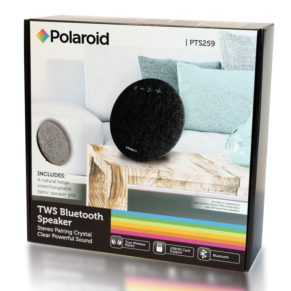 Polaroid Bluetooth Speaker with TWS Function