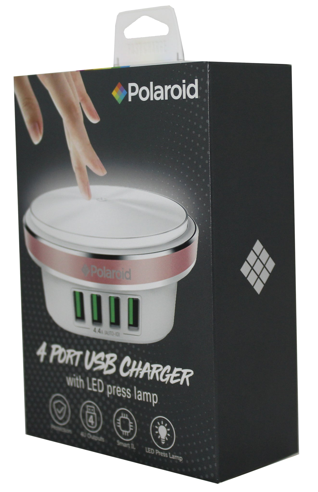 Polaroid LED Press Lamp With 4 Port USB