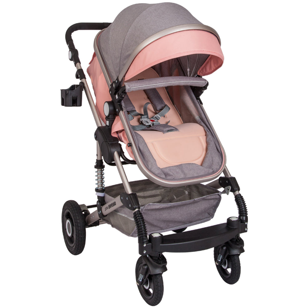 Little Bambino 2-in-1 Multifunctional Travel System- Grey and Pink