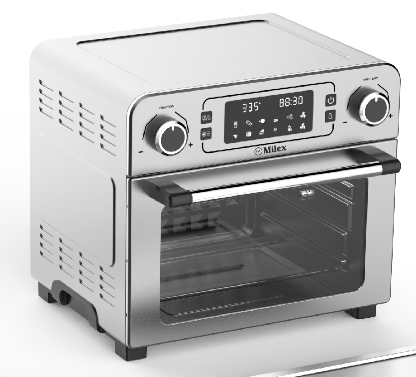 Milex - 23 litre AirFryer oven with Rotisserie