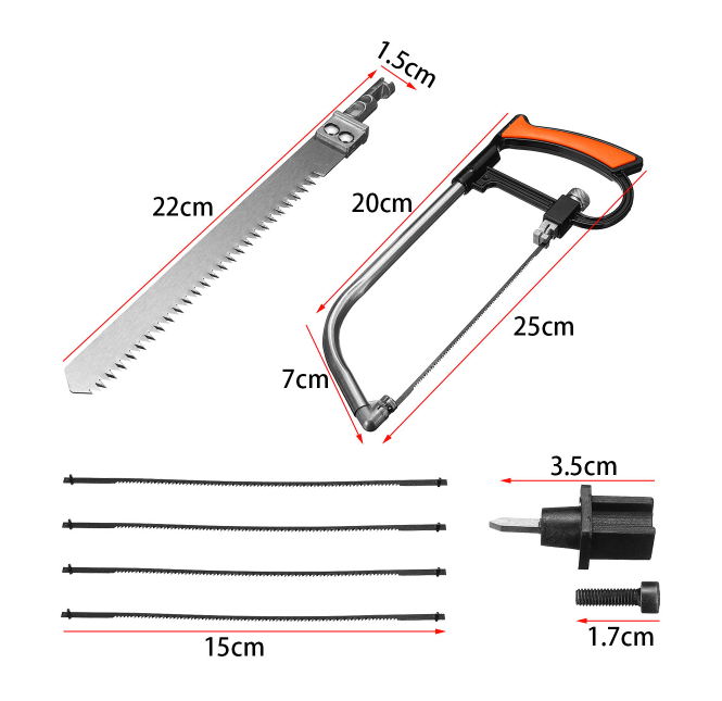 Homemax 9-in-1 Magic Saw Multi Purpose Hand DIY Steel Saw