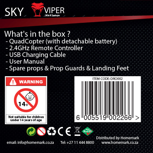 Sky Viper Quadcopter with WIFI Camera