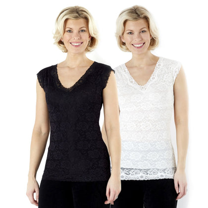 ToneWear Slimming Lace Top- Sleeveless- Set of 4