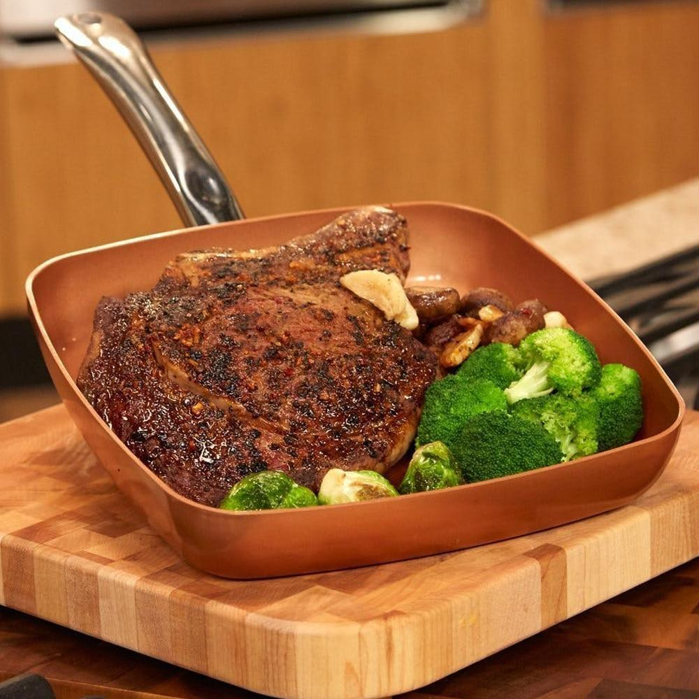 Copper Chef - 24cm Square Pan With Lid