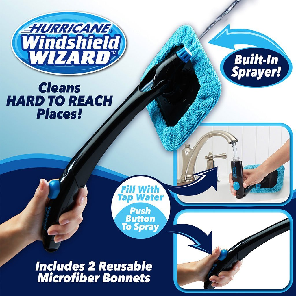 Windshield Cleaner with Built-in Sprayer