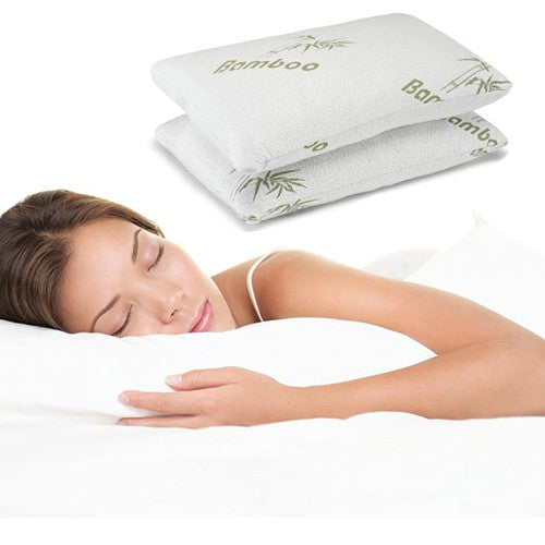 Remedy Health Bamboo Memory Foam Pillows- Set of 2