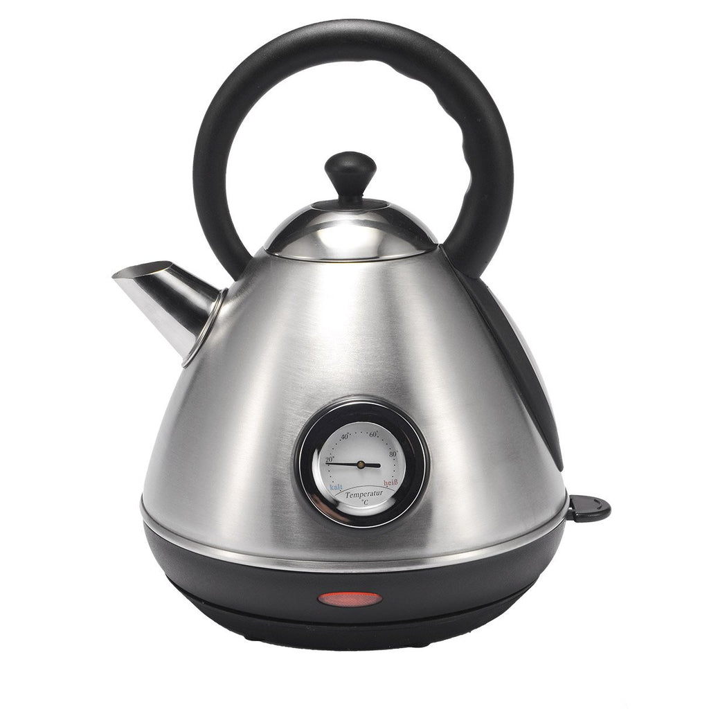 Milex Boston Matt Silver Stainless Steel Cordless 360° Kettle 2200W 1.7L