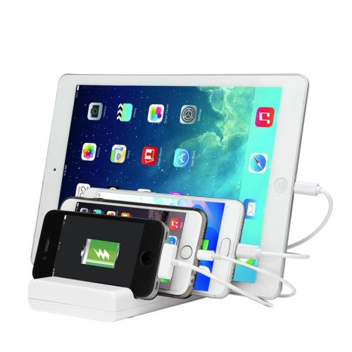 4 Port USB Desk Charging Station