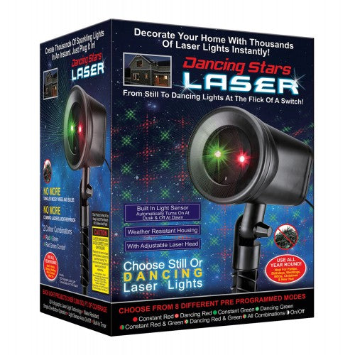 Dancing Stars Laser Light - Red and Green