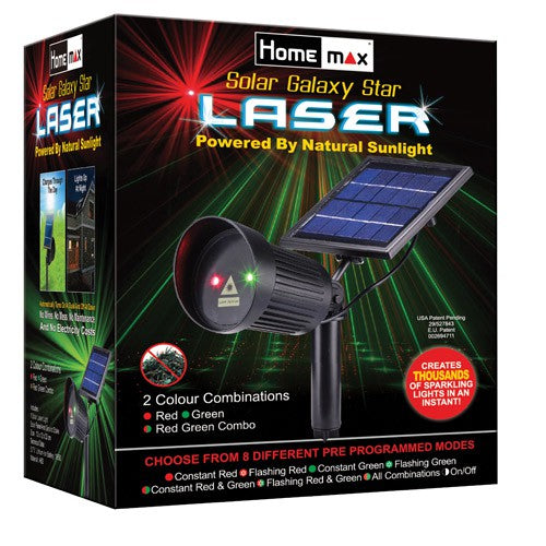 Homemax Solar Galaxy Star Laser: Red and Green Lights