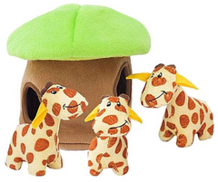 Giraffe Lodge hide and seek dog toy from ZippyPaws