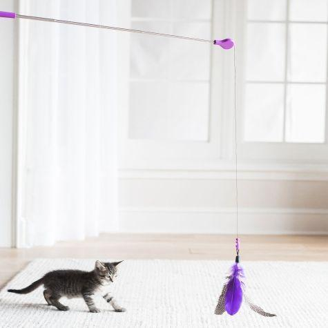 Jackson Galaxy - Retractable Cat Teaser Wand Toy - Mojo Maker Retractable Air Prey