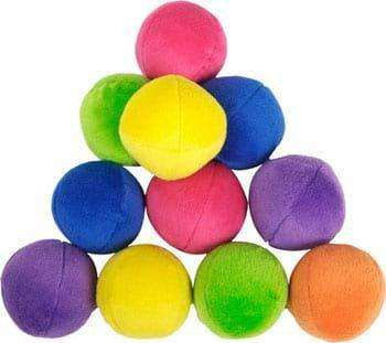 Loopies - Interactive Plush Dog Toy - Bright Bag O'Balls Refill (10 Mini Squeaky Balls)