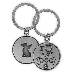 Pawsitive Outlook Keychains by AngelStar (Raised Detailing on Both Sides) inscribed sayings