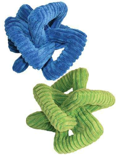 Loopies - Corduroy Dog Toy - Interlocking Triangle 8″ (Assorted Colors)