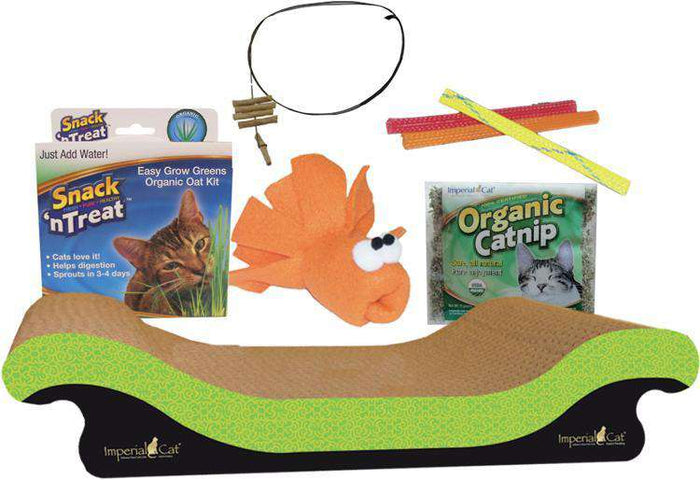 Imperial Cat - Cat Toy and Scratcher Gift Set - All-American Kit