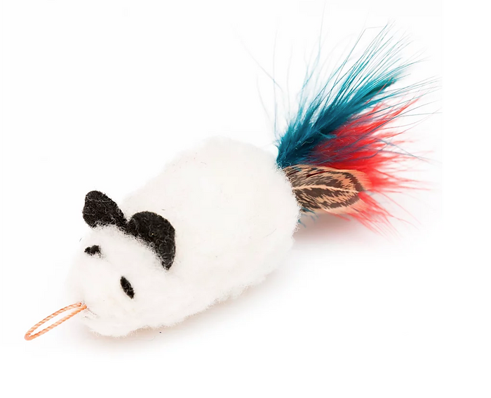 Da Wooly Feather Mouse™ Teaser Wand Cat Toy Replacement Lure by GO CAT®