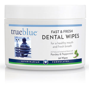 TrueBlue - All Natural Dog Dental Wipes - 50 pads, Pet Products