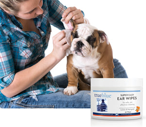 TrueBlue - Super Easy Dog Ear Wipes - 50 pads, Pet Products