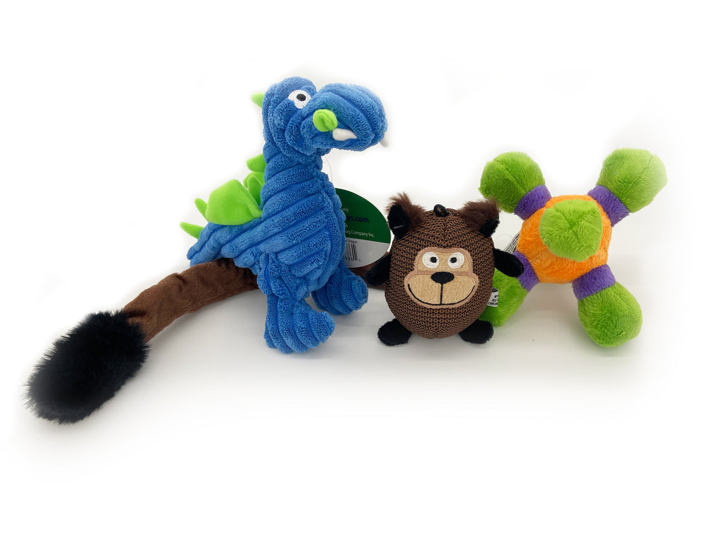 Loopies - Unique Squeaky Toys Gift Pack for Small Dogs