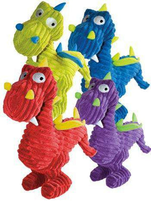Loopies - Corduroy Dog Toy - Squeaky Dragons (Assorted Colors)