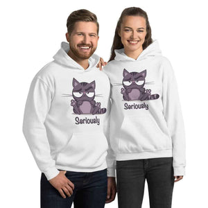 Seriously Sarcastic Grumpy Cat Graphic Pullover Hoodie Sweatshirt Cat PetDesignz Unisex men women