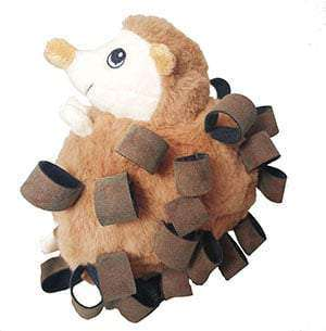 Loopies Hedgehog Dog Toy Leather Loops - 6""